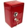 Копилка сейф с ключом красная металл