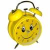 Часы будильник D-116 см Смайл желтый