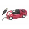 Мышь для ПК в виде автомобиля красная А7