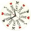Часы Ешь Спи Люби Стеклянные
