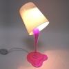 Светильник вытекающая розовая краскаУЦЕНКА