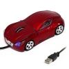 Мышь для ПК в виде гоночного авто красная А25