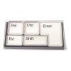 Магниты в наборе в виде кнопок клавиатуры белый (*)