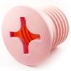 Светильник Винт розовый