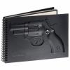 Блокнот с оттиском пистолета черн. 18 УЦЕНЕННЫЙ ТОВАР