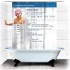 Занавеска в душ Социальная сеть180х180cm