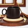 Кружка с деревянным блюдцем Гончарный круг N3 (*)