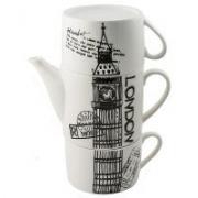 Чайник с двумя кружками Лондон, фарфор,  930рублей. Есть в наличии.